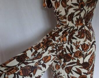 summer sale Vintage dress 50s original Marcusa wiggle pencil dress size medium