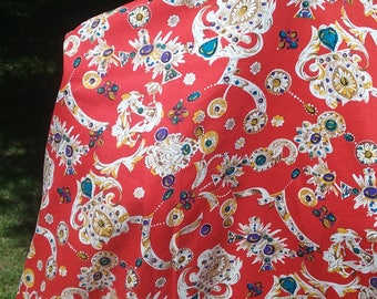 Fabric -Hermes Style Jeweled Cotton Print -  6 Yards