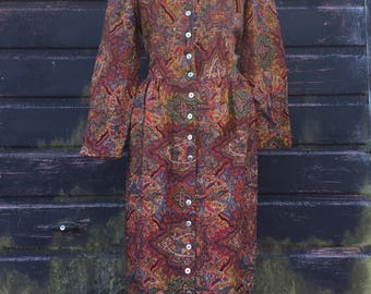 Foale & Tuffin Liberty Wool Paisley Dress Coat