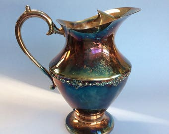 "9"" Birks Primrose Silver Water Pitcher Antique Vintage"