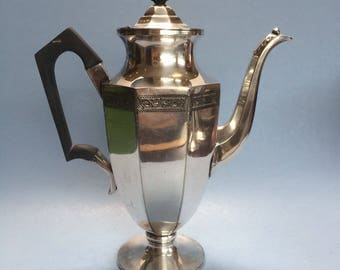 Vintage William Hutton & Sons Silverplate Coffee Pot Server Sheffield England