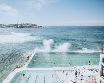 Beach Poster, Bondi Beach, Aerial Beach Print, Extra Large Wall Art, Bedroom Wall Art, Office Artwork, Sydney, Australia, Beach Photo