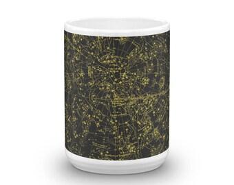 Constellations 15oz Coffee & Tea Mug - Plate I - Northern Celestial Hemisphere Sky Chart Star Map