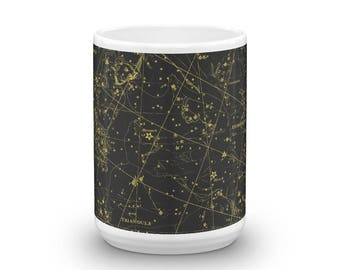 Constellations 15oz Coffee & Tea Mug - Plate III - Perseus - Andromeda - Triangula - Sky Map Star Chart Ceramic Cup