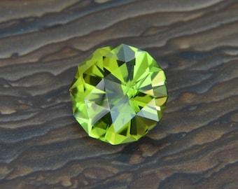 1.65 ct Green Tourmaline. Natural Untreated. Custom Cut USA Loose Gemstone