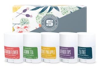 Travel-Size Sensitive Skin Sticks 5-Pack (.7 oz. each) - Schmidt's Natural Deodorant