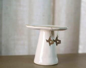 Texas Strong, Texas Jewelry, Texas Charm Earrings, Texas Earrings, My Heart is in Texas, State Jewelry