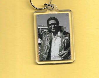 Nascar Richard Petty Plastic Keychain