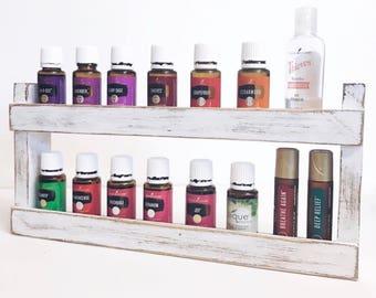 Essential Oil Shelf, oil rack, wood shelf, oil storage, hanging wall shelf, farmhouse decor, kitchen decor, bathroom decor