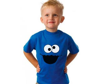 Cookie Monster, Cute Shirt, T-Shirts, Gift for Boy, Gift for Girl, Gift for Kids, Gift For Him, Gift For Her, Custom Shirt, Funny Shirts