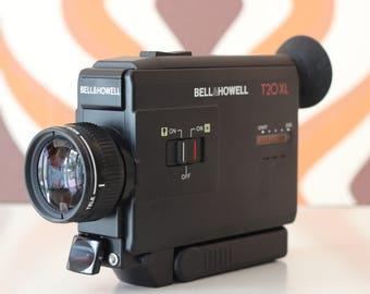 Bell & Howell T 20 XL retro vintage super 8 kodak 8mm movie cine film camera 1980s, film student, film maker