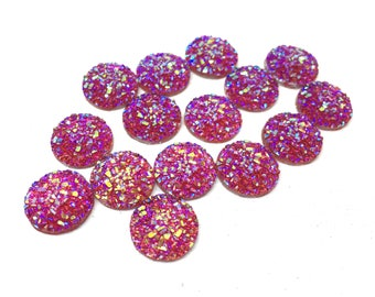 12mm Druzy Cabochons, RED SPARKLE, jewelry making kit, earring set, diy jewelry, druzy studs, 12mm Druzy, cabochon, stud earrings RED