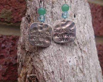 earrings, handmade earrings, seaside jewellery, beach jewellery, shell accessories, dangle earrings, beach earrings