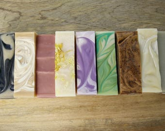 Sample pack of 4 soap samples / set of soap / four to try / small / mini / discount / bulk