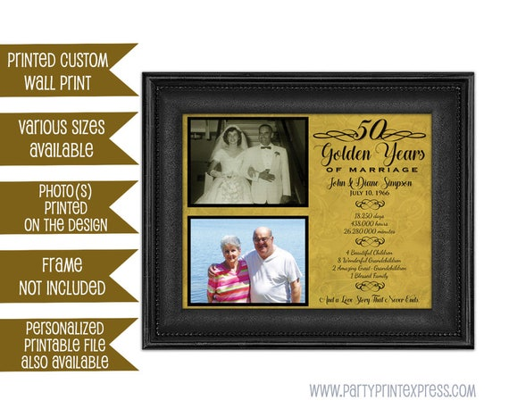 50th anniversary gifts golden anniversary gift wedding