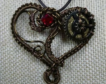 Steampunk Heart Necklace