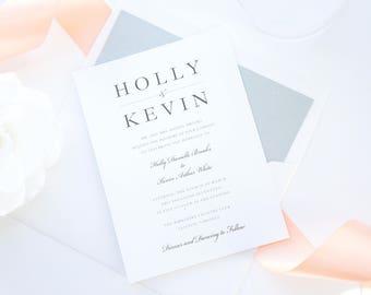 modern peach wedding invitations blush invitations wedding invitation set invitation suite deposit - Peach Wedding Invitations
