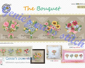 The Bouquet - cross stitch pattern or kit. SODAstitch SO-G121