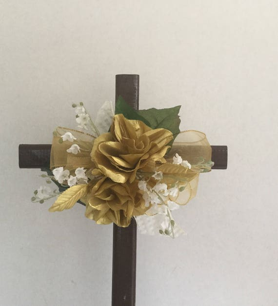 Cemetery flowers , Cemetery Cross, Grave flowers, cemetery arrangement, Grave Marker, Memorial Cross,