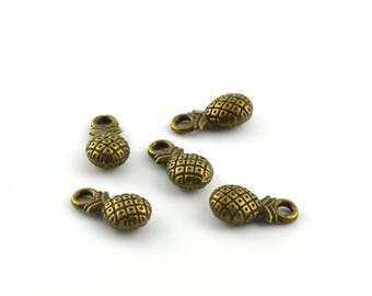 Charms pineapple antique set of 5