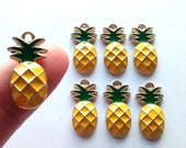 1/3/5pcs pineapple charms, fruit charm, candy planner beads, flatback, decoden, scrapbooking, jewellery making, cabs, craft supplies,
