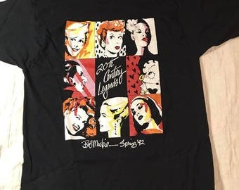 Vintage BOB MACKIE 20th Century Legends Black T Shirt M Lucille Ball,  Billie Holiday, Grace Kelly, Betty Boop & more