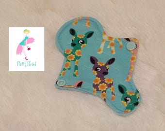"""6"""" Thong Liner Deer Jersey CSP Cloth pad (2"""" snapped) thin discrete fleece back daily liner"""
