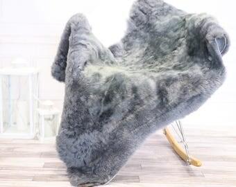 Gray Sheepskin Rug | Fur Rug | Shaggy Rug | Chair Cover | Area Rug | Gray Rug | Carpet  | #novher32(2)