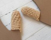 Finger Fidget Dermatillomania Help - Trichtillomania Habit Helper - Tan With Pearl Beads - Finger Bandage