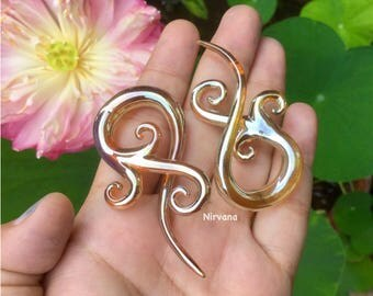 "Real Silver/Gold Color Glass Bonita Spirals 10g 8g 6g 4g 2g 0g 00g 7/16"" 1/2"" 9/16"" 5/8""  2.5 mm 3 mm 4 mm 5 mm 6 mm 8 mm 10 mm - 16 mm"