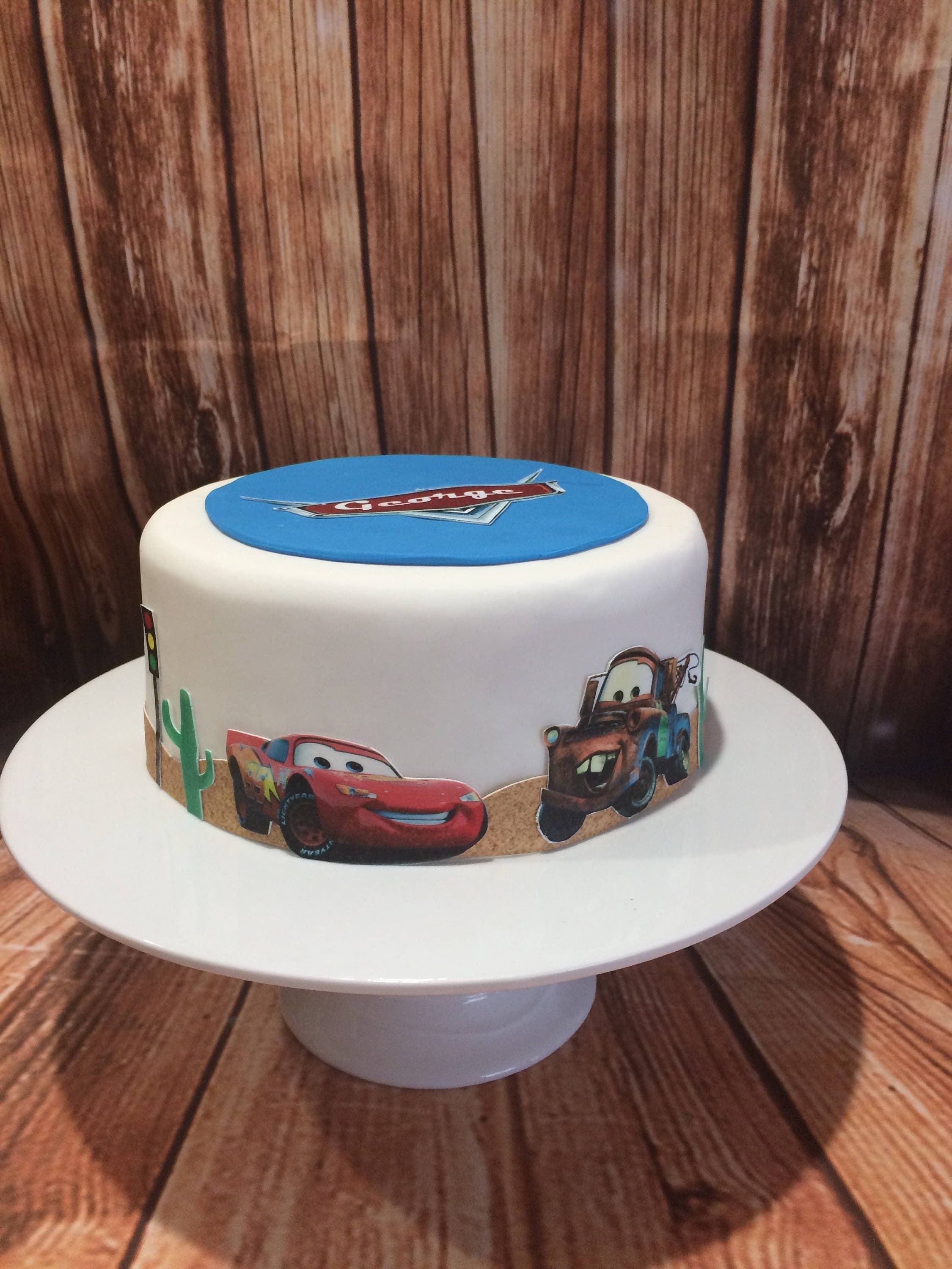 Edible Cake Images Cars : Personalised Cars Edible Icing Sheet
