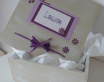 "Birthday custom and original box ""bird"""