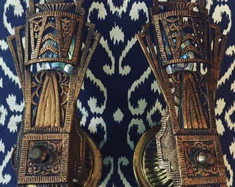 Art Deco Egyptian Revival Wall Sconces (2)