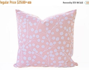 Sale Blush pink pillow cover, Rose Quartz and White pillow - Pink Floral Pillow - Light Pink Pillow - Nursery Pillow