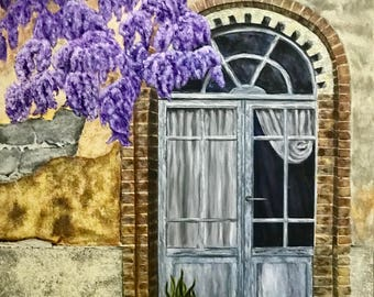 Painting on Canvas, Acrylic Painting|Flower|Landscape,Original Painting, Painting,Wall Art, Canvas Art, Original, Landscape Painting