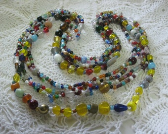 W-  Glass Mardi Gras beads from New Orleans-Carnival --Parade