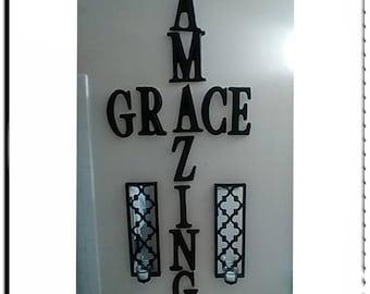 Amazing Grace Wall Decor amazing grace wall | etsy
