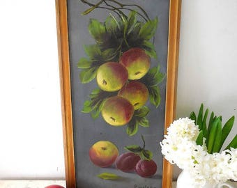 Charming antique oil painting on board