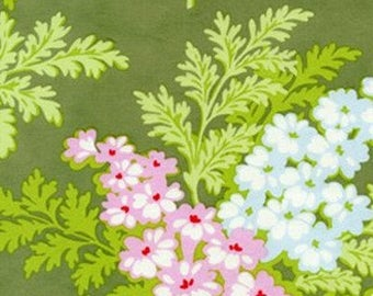 Nicey Jane  Picnic Bouquet in Moss Original 2009 by Heather Bailey for Free Spirit Fabrics  OOP HTF