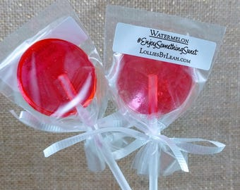 12 Watermelon Lollipops