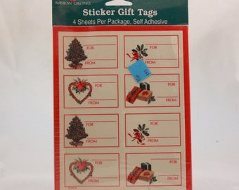 Vintage Hallmark Holiday Christmas Gift Tags. 4 Sheets per Sealed Package