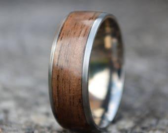 Mens Wood Ring   Etsy