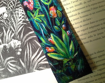 "black leather, JUNGLE book mark""inspiration""the customs officer"""