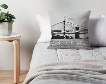 New York City, NYC Pillow, Brooklyn Pillow, Manhattan Pillow, New York City Cushion, NYC Art, New York City Bedding, NYC Decor, New York Art