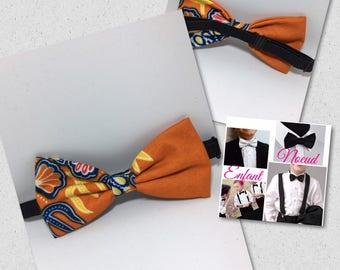 Orange bow tie for child wax