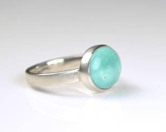 Variscite Ring - Variscite Solitaire Ring - Variscite Stack Ring - Variscite Gemstone Ring - Variscite Silver Ring - Green Variscite Ring