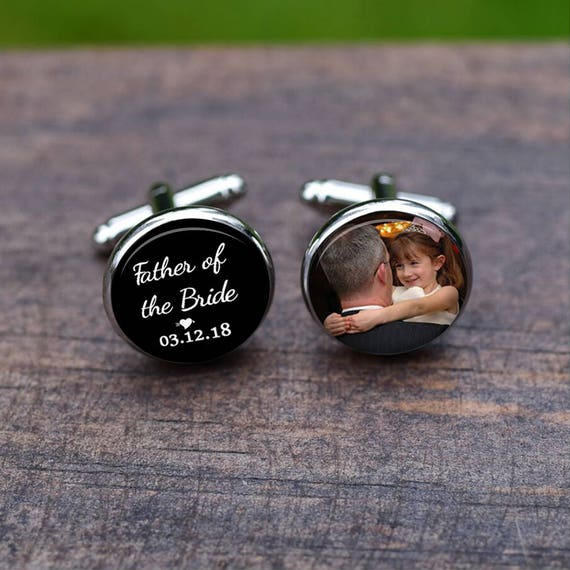 Cuff Links Father Of The Bride Cufflinks Custom Heart And