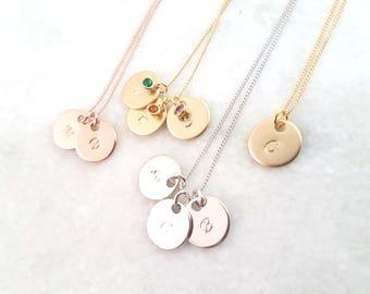 BIG SALE!! Initial Necklace, Birthstone Necklace,  - initial jewelry - Friendship necklace ,Family Tree Necklace, Bridesmaid gift
