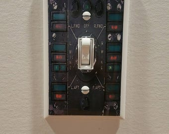 MISSILE LAUNCH Status Switch Plate -  Wall Plate Cover - toggle gag gift single gang mancave light