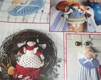 Leisure Arts Kitchen Angels Crochet Pattern Leaflet